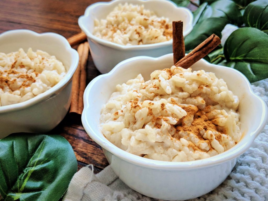 bowl of rice pudding