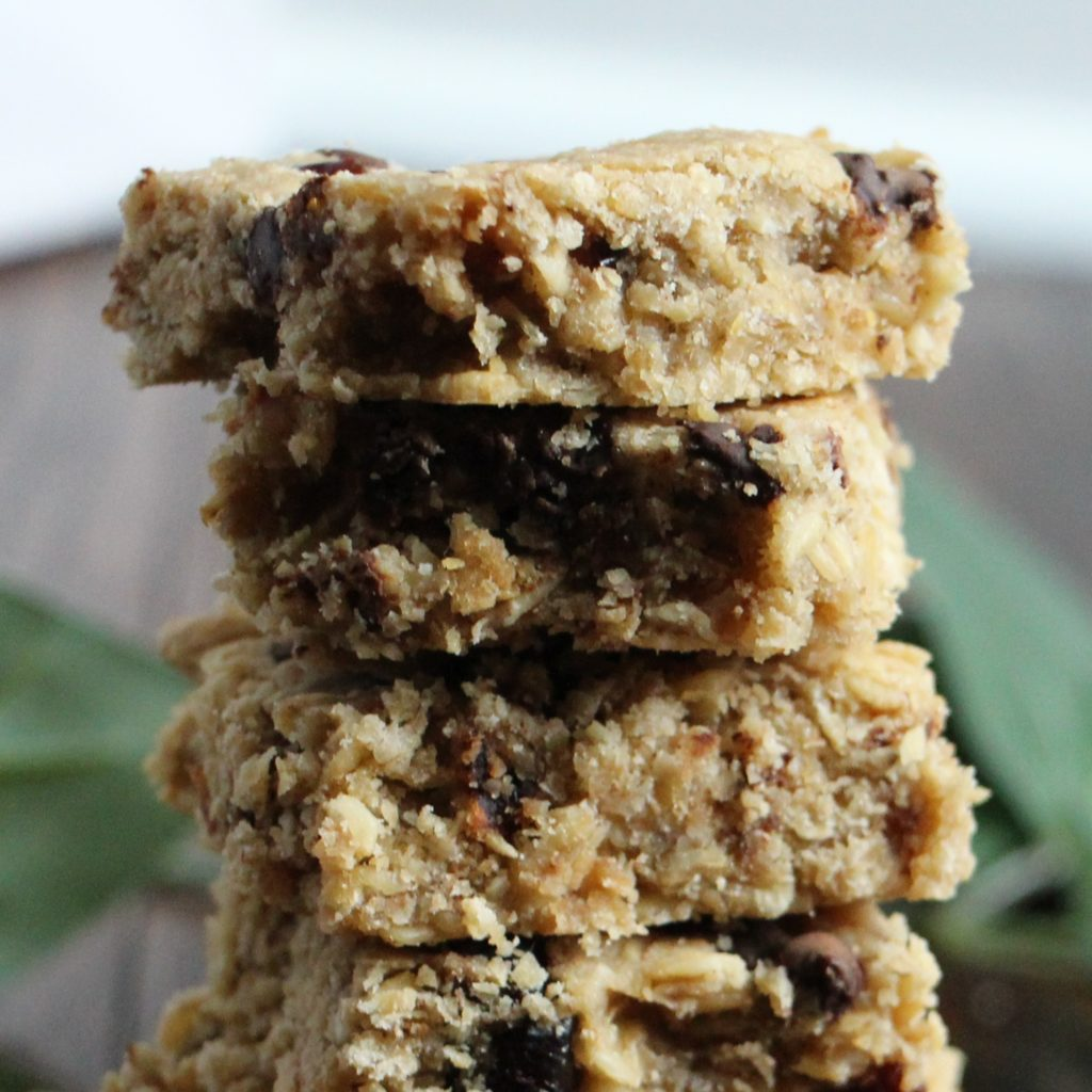 cranberry-oat bars