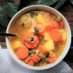 bowl of veggie soup
