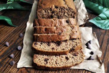 banana bread sliced
