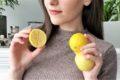 fay holding three lemons