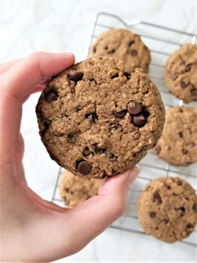 chocolate chip cookies close up