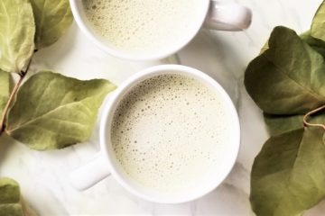two cups of matcha latte